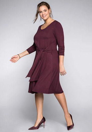 Sheego Jerseykleid in figurschmeichelnder A-Linie