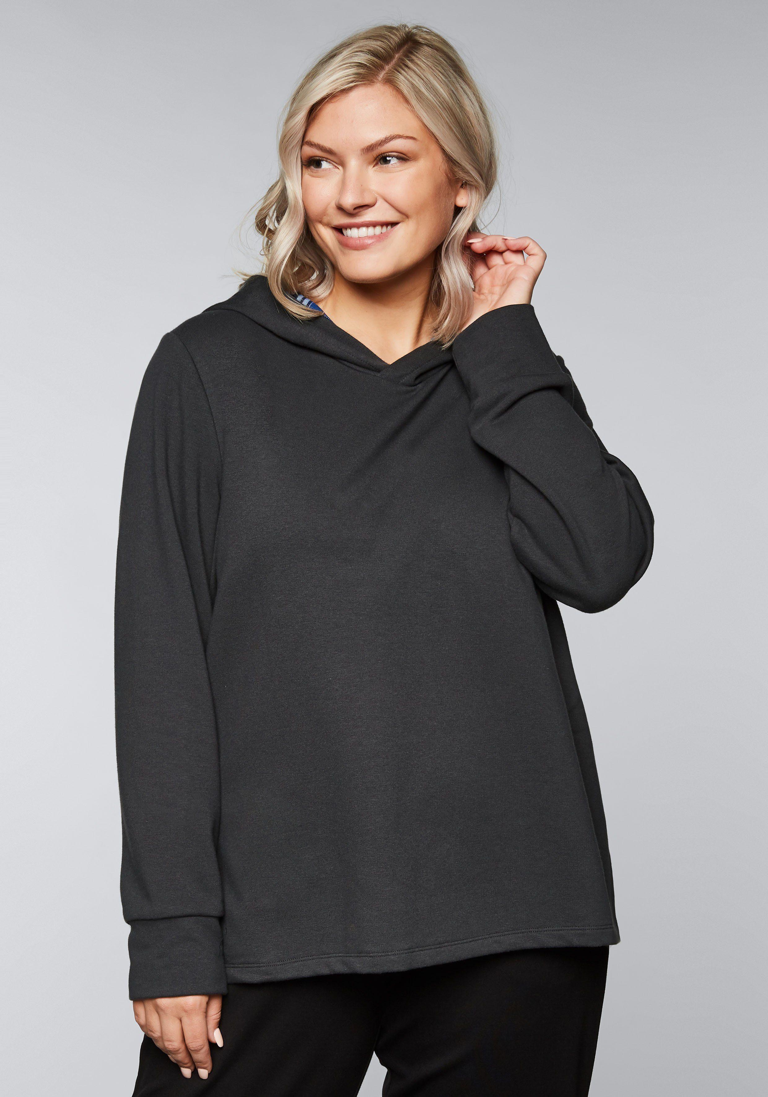 Innenfutter Mit Kontrastfarbigen Kaufen Kapuzensweatshirt Online Sheego rhxstdCBQ
