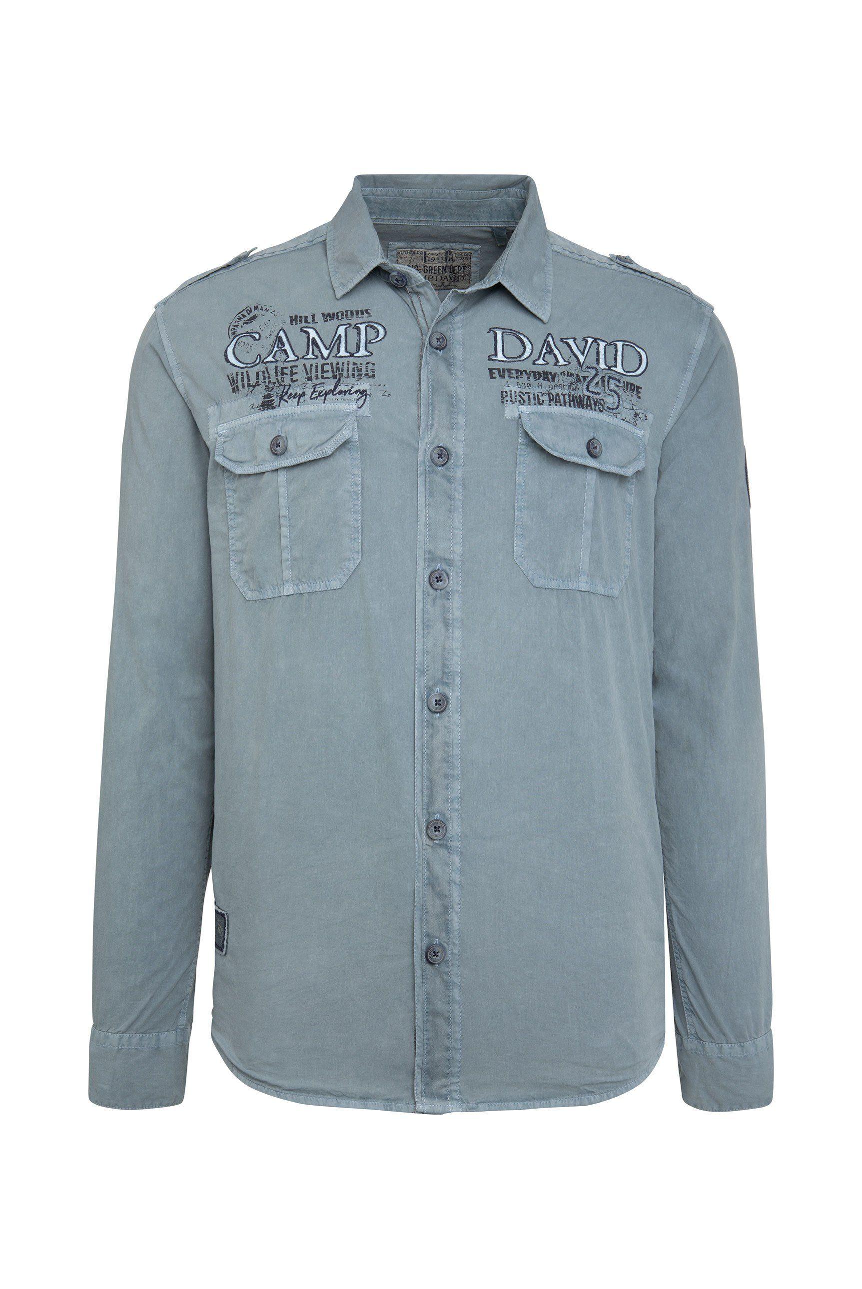 Online Kaufen Langarmhemd David Camp Brusttaschen fgYb67y