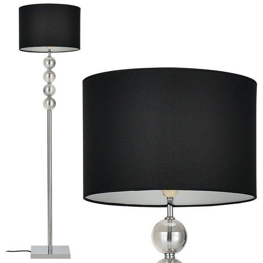 lux.pro Stehlampe, »Spheridern« - 158cm - Schwarz - 1xE27