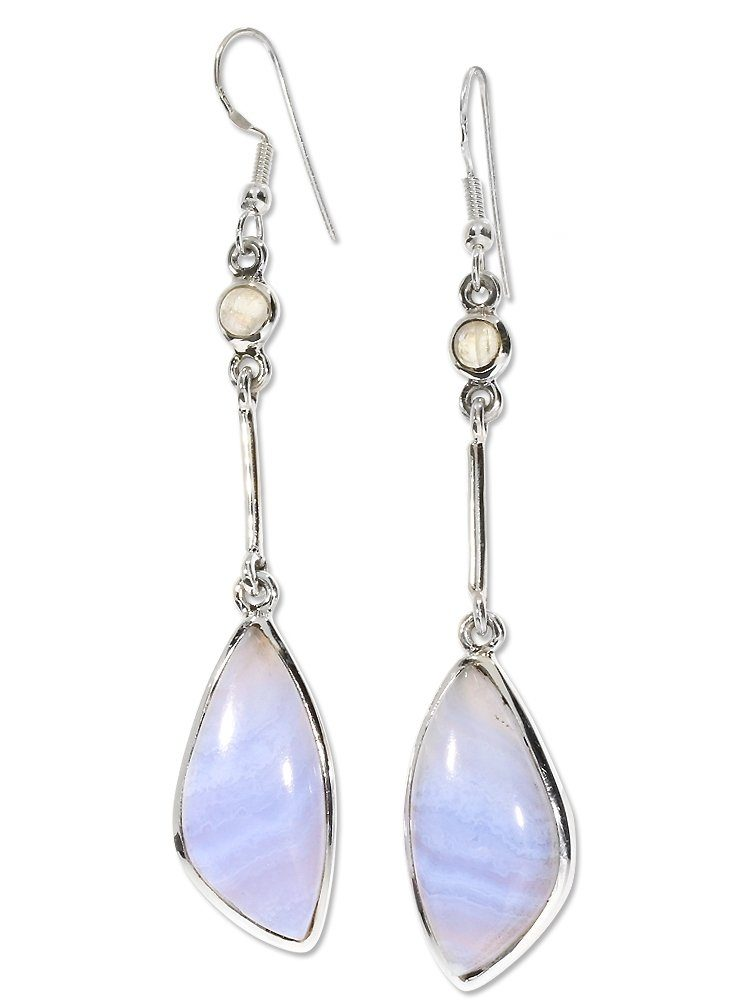 Adelia´s OhrschmuckMond Ohrhänger Paar »chalcedon Online 925 Kaufen Silber« 80wPXknO