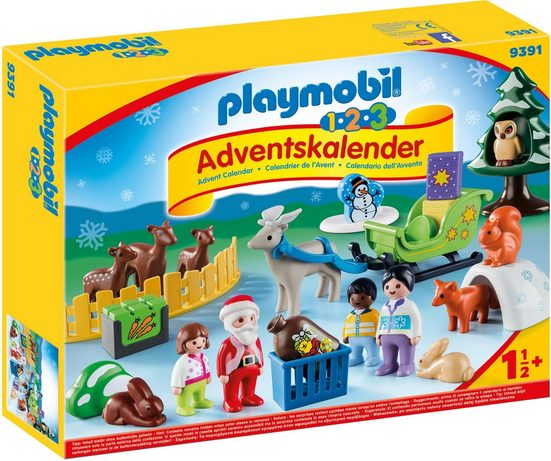 Playmobil® Adventskalender »1.2.3 Adventskalender »Waldweihnacht der Tiere« (9391)«, Made in Germany