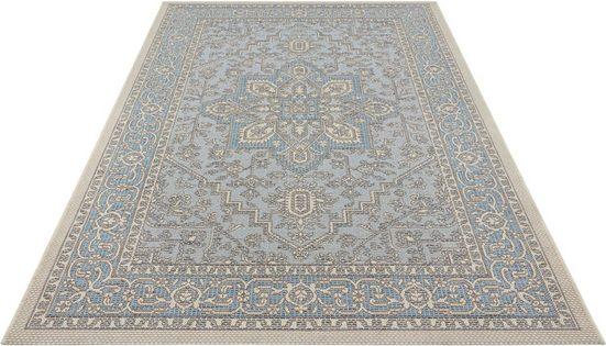 Teppich »Anjara«, bougari, rechteckig, Höhe 4 mm, In- und Outdoor geeignet, Flachgewebe, Wohnzimmer