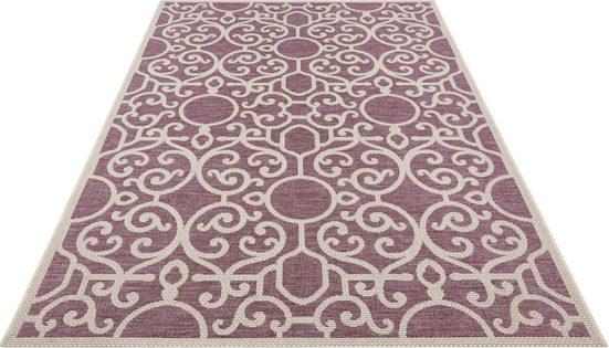Teppich »Nebo«, bougari, rechteckig, Höhe 4 mm, Flachgewebe, In- und Outdoor geeignet, Sisal-Optik, Für Terasse und Balkon, Wohnzimmer