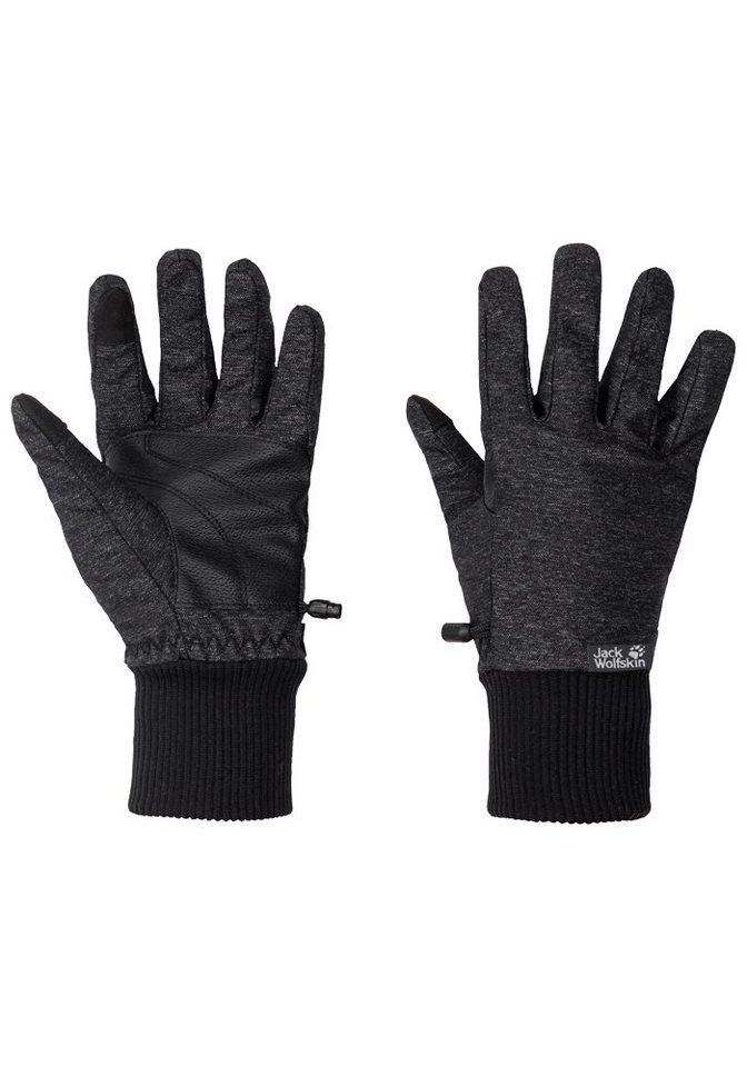 Jack Wolfskin Fleecehandschuhe »WINTER TRAVEL GLOVE WOMEN« | Accessoires > Handschuhe > Fleecehandschuhe | Schwarz | Jack Wolfskin