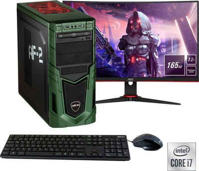 "Hyrican Military SET02096 Gaming-PC-Komplettsystem (27"", Intel Core i7, RTX 3060, 16 GB RAM, 1 GB SSD, inklusive 27"" Monitor AOC C27G2AE/BK)"