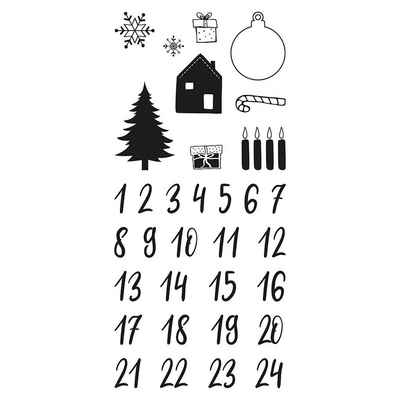 Rayher Stempel »Clear Stamps - Adventskalender Classic, 97x205mm,«