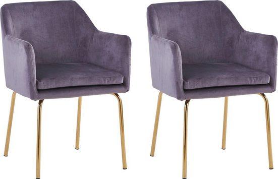 SIT Armlehnstuhl »Sit&Chairs« mit weichem Samtvelours, im 2er-Set