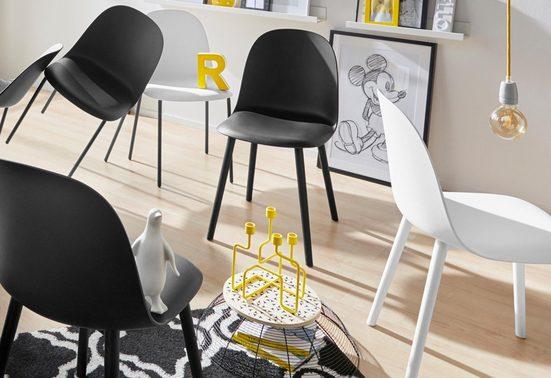 INOSIGN 4-Fußstuhl »Bern« Beine aus Metall, in mehreren Trendfarben erhältlich