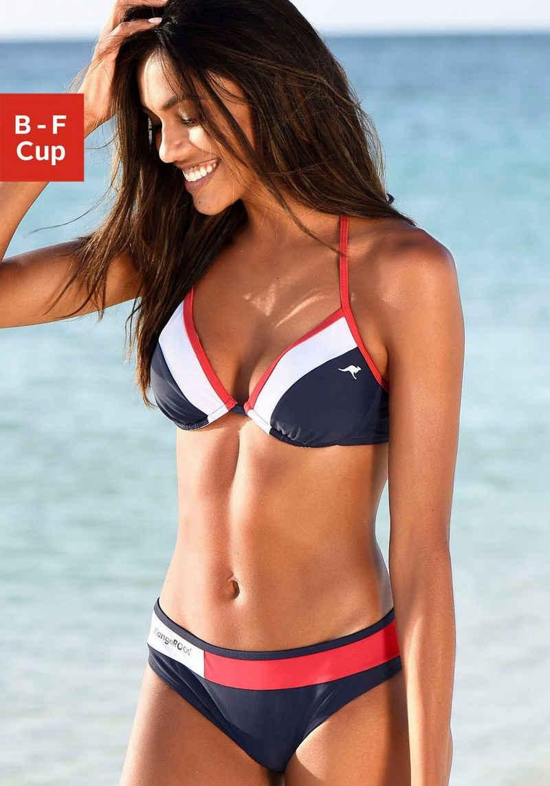 KangaROOS Bügel-Bikini mit Kontrasteinsätzen