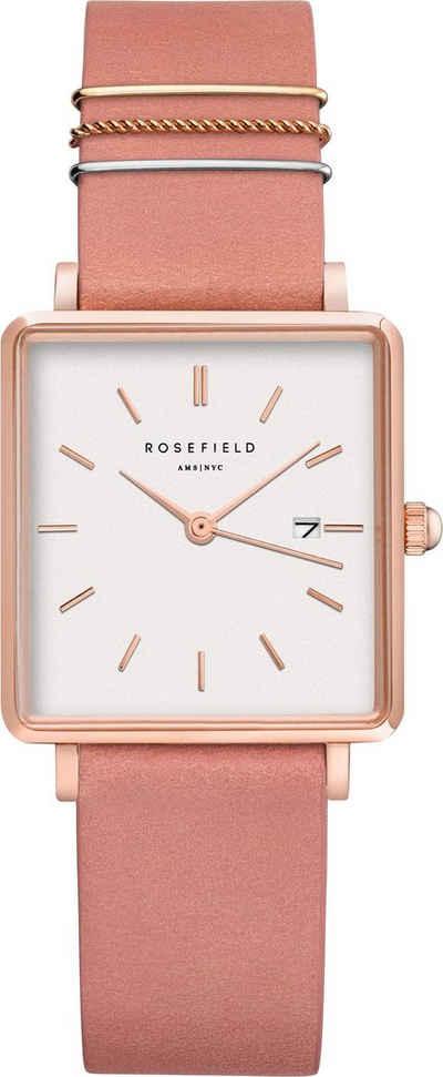 ROSEFIELD Quarzuhr »The Boxy White Old Pink Rosegold, QOPRG-Q026«