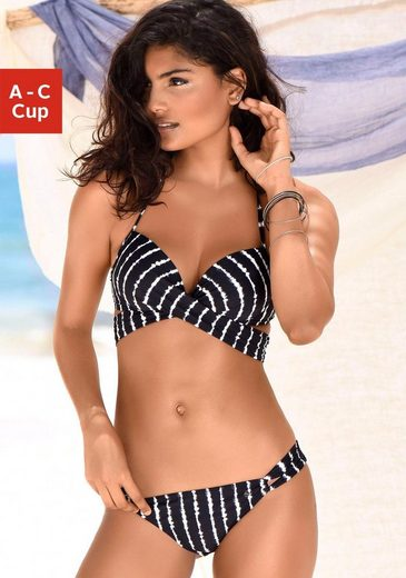 s.Oliver Beachwear Push-Up-Bikini Wickeloptik