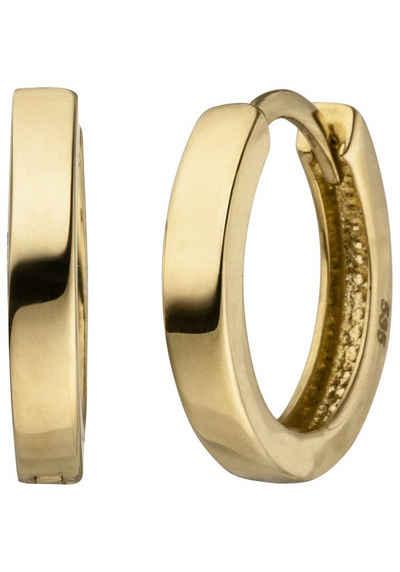 JOBO Paar Creolen, 585 Gold 12,5 mm