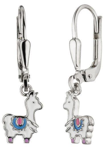 JOBO Paar Ohrhänger »Lama weiß«, 925 Silber