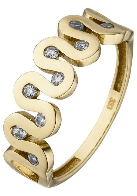 JOBO Fingerring 333 Gold mit 9 Zirkonia