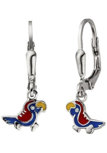 JOBO Paar Ohrhänger »Papagei«, 925 Silber
