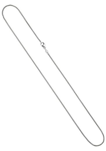 JOBO Kette ohne Anhänger, Zopfkette 585 Weißgold 50 cm 1,2 mm