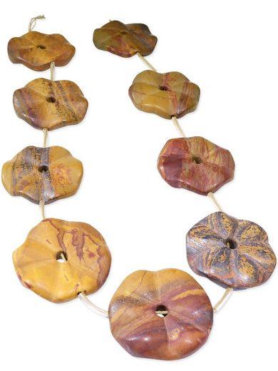 Adelia´s Kette ohne Anhänger »Hämatit Steinstrang rund, oval - 40 cm« Hämatit Steinstrang rund, oval - braun Erdtöne - 40 cm