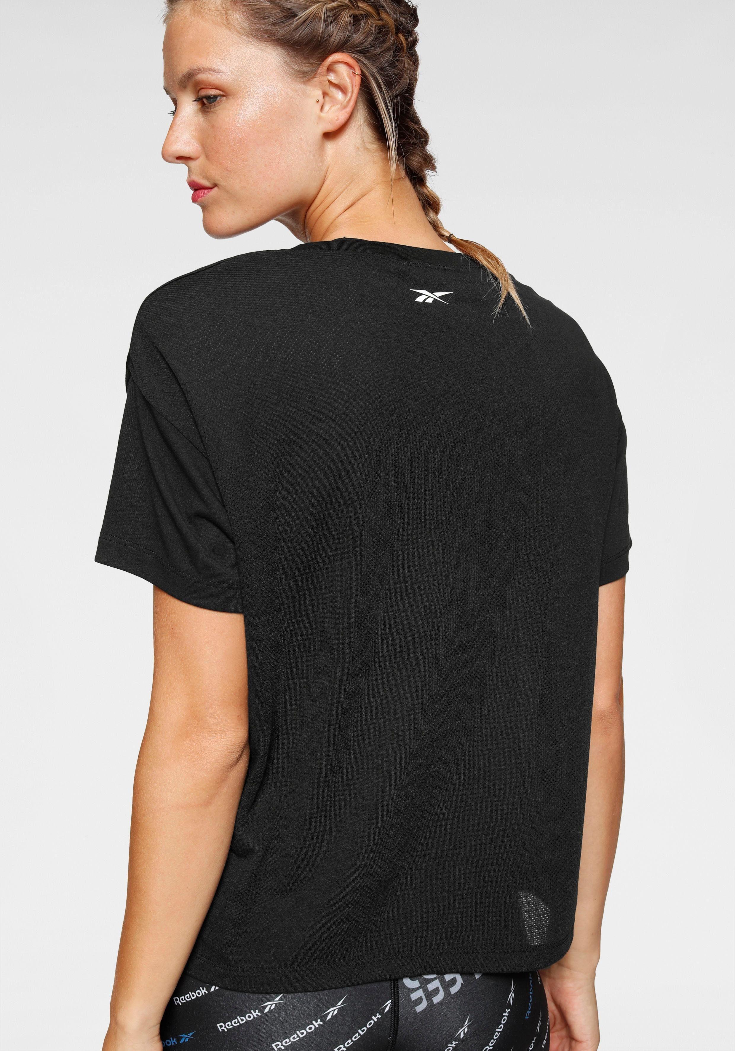 Reebok T-Shirt WOR SUP BL TEE Rücken aus Mesh