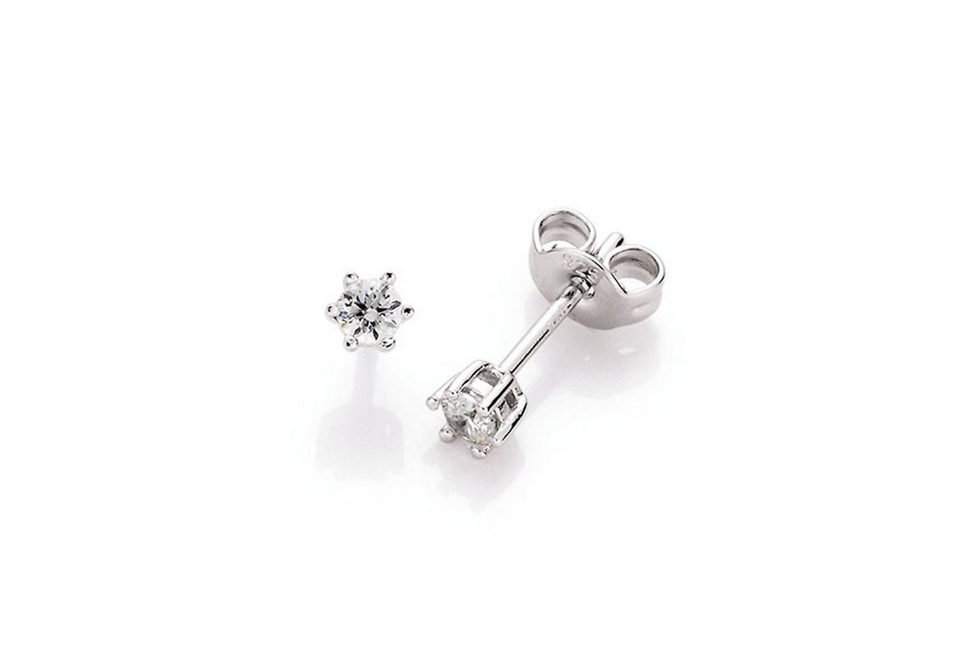 Smart Jewel Paar Ohrstecker »schlicht Krappenfassung«   Schmuck > Ohrschmuck & Ohrringe > Ohrstecker   Smart Jewel