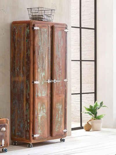 SIT Garderobenschrank »Fridge« mit Kühlschrankgriffen, Shabby Chic, Vintage