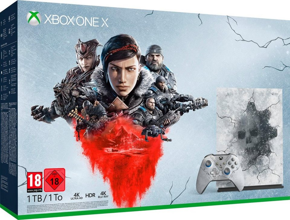 xbox one x 1tb inkl gears of war 5 limited edition online kaufen otto. Black Bedroom Furniture Sets. Home Design Ideas