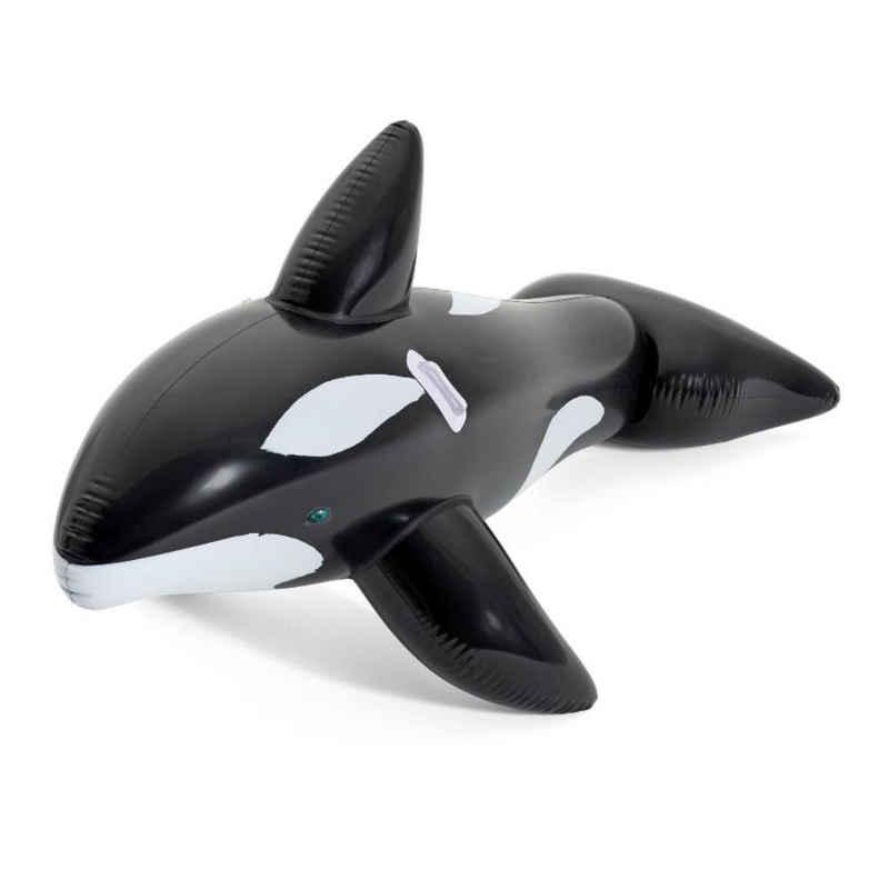 BESTWAY Schwimmtier »Bestway Schwimmtier Jumbo Whale Reit-Tier aufblasbar XL Luftmatratze Wal 203 cm«, extra groß, bis 45 Kg belastbar