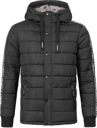 SUBLEVEL Winterjacke »44459« lässige, warme Winter Steppjacke mit Kapuze