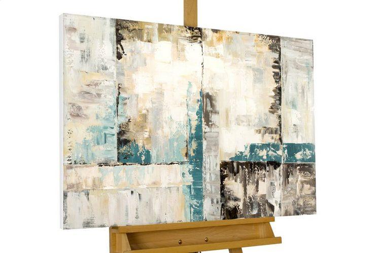 KUNSTLOFT Gemälde »Stetes Schweigen«, handgemaltes Bild auf Leinwand