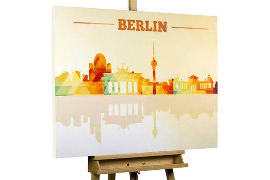 KUNSTLOFT Gemälde »Ich bin ein Berliner«, handgemaltes Bild auf Leinwand