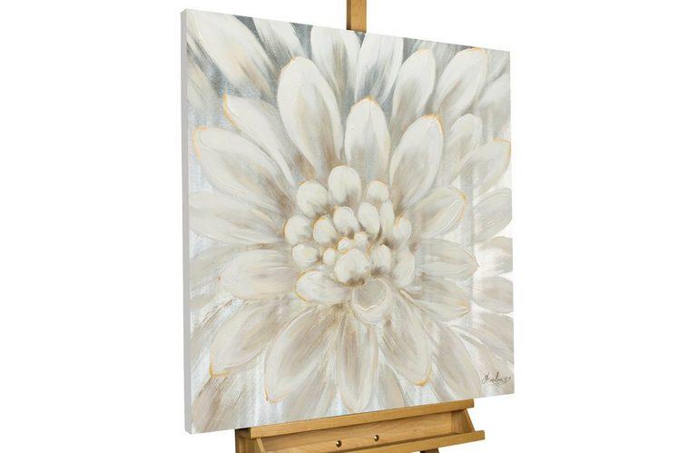 KUNSTLOFT Gemälde »Alabaster Dahlia«, handgemaltes Bild auf Leinwand