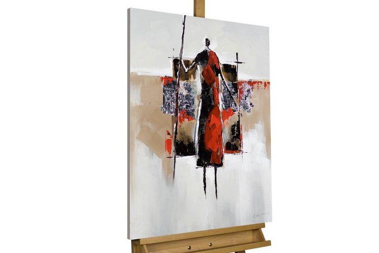KUNSTLOFT Gemälde »Jäger und Sammler«, handgemaltes Bild auf Leinwand