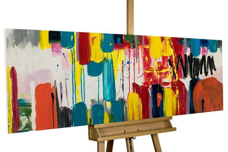 KUNSTLOFT Gemälde »Künste der Farben«, handgemaltes Bild auf Leinwand