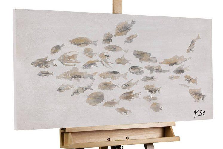 KUNSTLOFT Gemälde »Proud Team«, handgemaltes Bild auf Leinwand