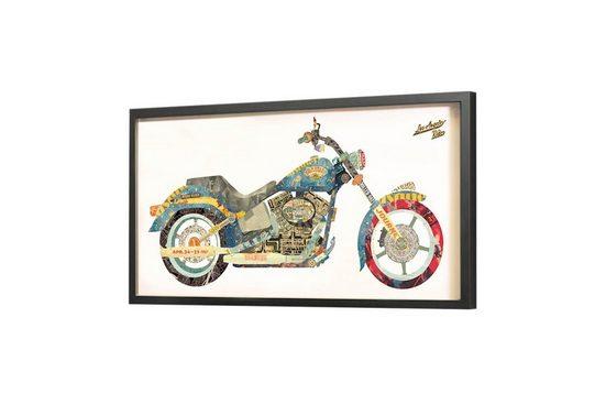 KUNSTLOFT Bilder-Collage »Easy Rider«, trendiges Frame Art 3D Bild