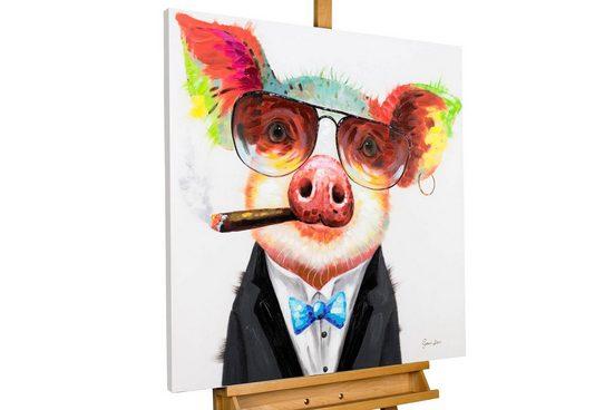 KUNSTLOFT Gemälde »Smoking Hot Bacon«, handgemaltes Bild auf Leinwand