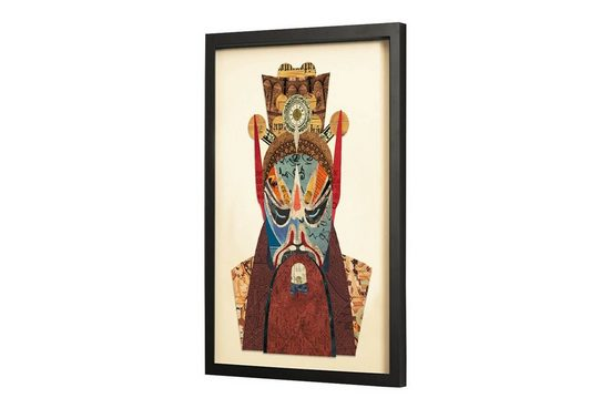 KUNSTLOFT Bilder-Collage »Angry Warrior«, trendiges Frame Art 3D Bild