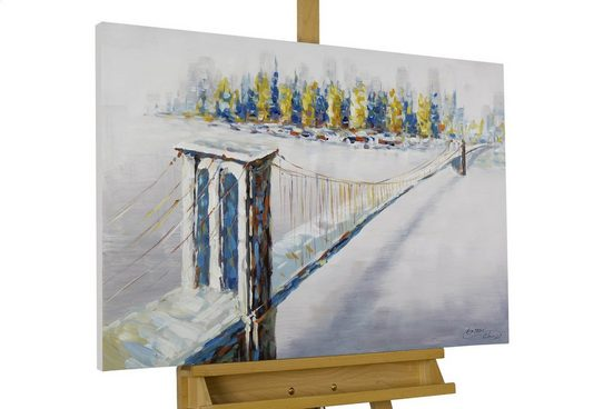 KUNSTLOFT Gemälde »Beyond the Brooklyn Bridge«, handgemaltes Bild auf Leinwand