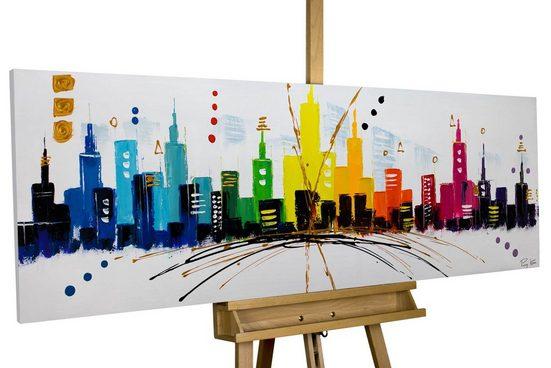 KUNSTLOFT Gemälde »Scene of Enjoyment«, handgemaltes Bild auf Leinwand
