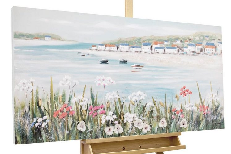 KUNSTLOFT Gemälde »Urlaubsfeeling«, handgemaltes Bild auf Leinwand