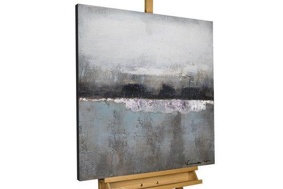 KUNSTLOFT Gemälde »Nebelmeer«, handgemaltes Bild auf Leinwand