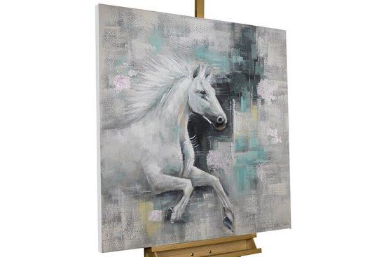 KUNSTLOFT Gemälde »Schattenreiter«, handgemaltes Bild auf Leinwand
