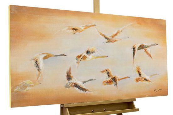 KUNSTLOFT Gemälde »Birds«, handgemaltes Bild auf Leinwand