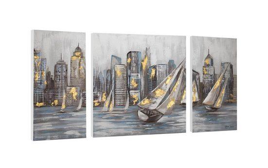 KUNSTLOFT Gemälde »Großer Aufbruch«, handgemaltes Bild auf Leinwand
