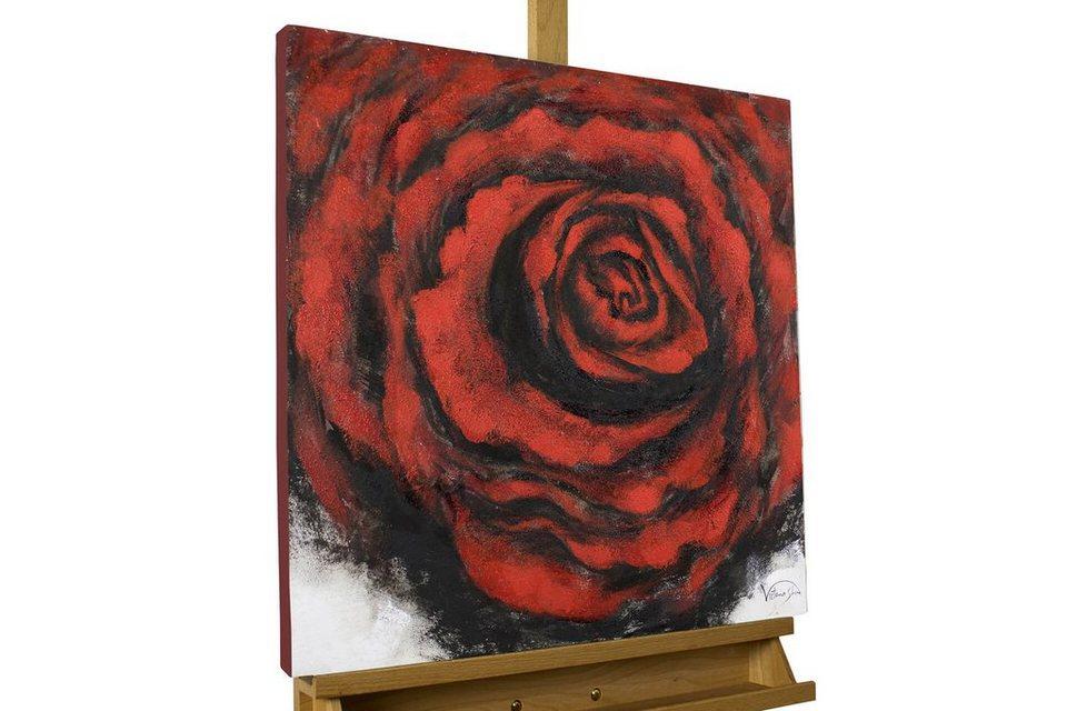 kunstloft gem lde gebettet auf rosen handgemaltes bild. Black Bedroom Furniture Sets. Home Design Ideas