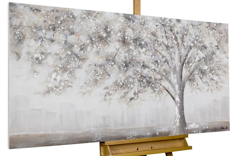 KUNSTLOFT Gemälde »Way back home«, handgemaltes Bild auf Leinwand
