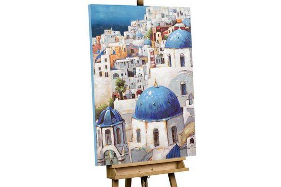 KUNSTLOFT Gemälde »Urlaub auf Santorin«, handgemaltes Bild auf Leinwand