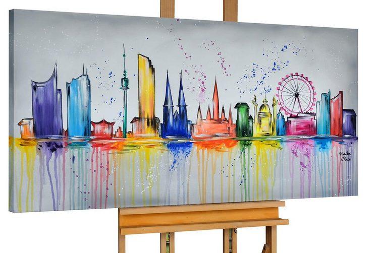 KUNSTLOFT Gemälde »Best of Vienna«, handgemaltes Bild auf Leinwand