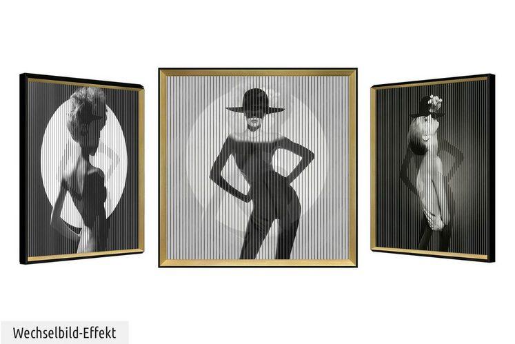 KUNSTLOFT Wandbild »Roaring Twenties«, gerahmtes Bild mit 3D-Wechselbild-Effekt