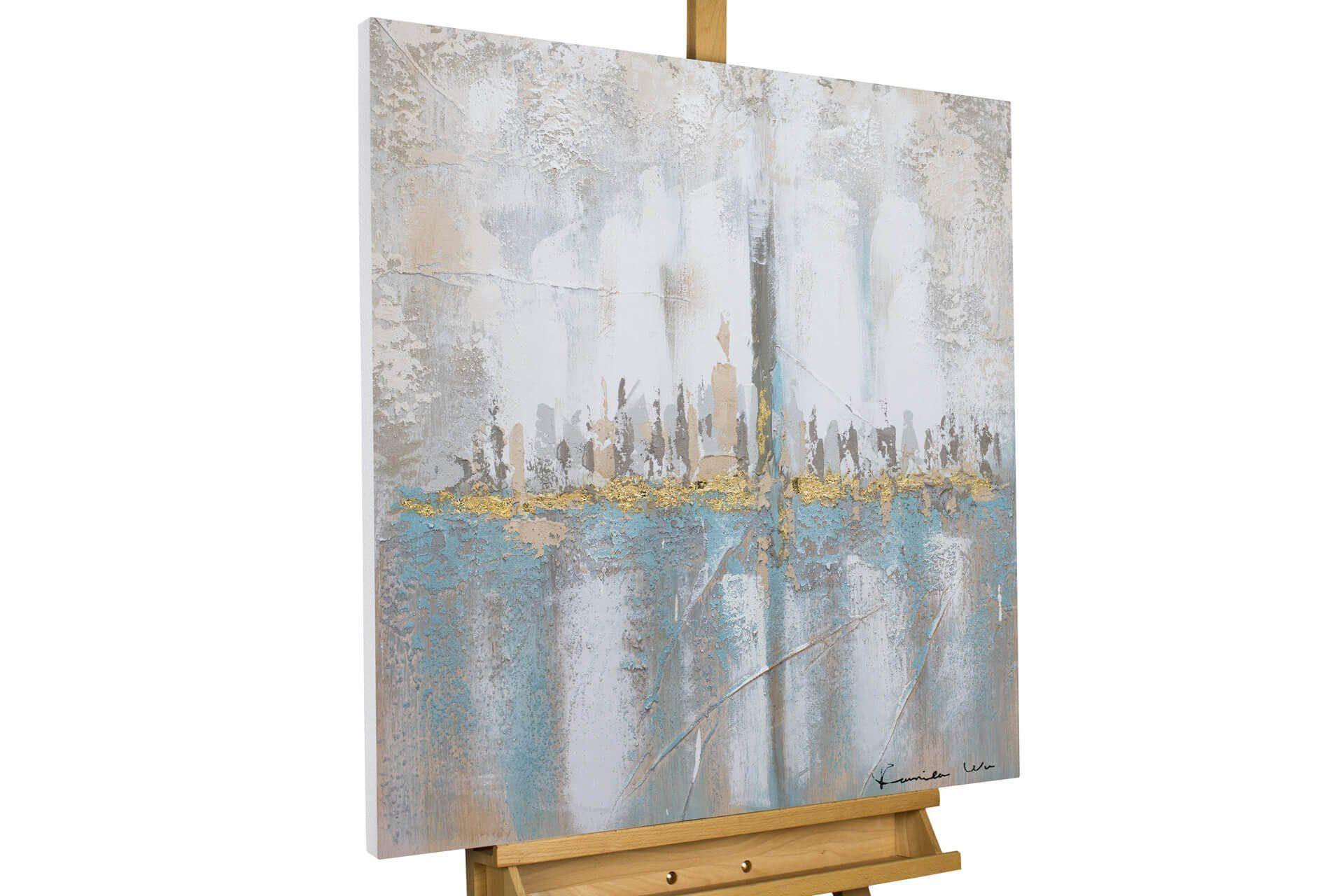 Acryl Gemälde /'BELLE OF THE VILLAGE/'HANDGEMALTLeinwand Bilder 80x80cm